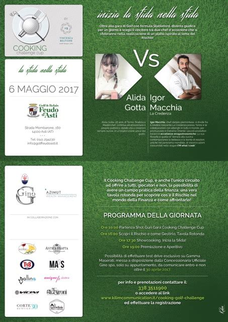 challenge cup golf cooking challenge cup tra golf alta cucina e