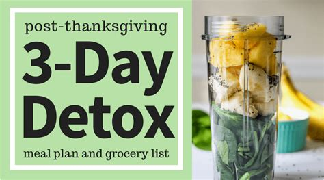 Thanksgiving Detox by Post Thanksgiving 3 Day Detox Meal Plan Ally S Cooking