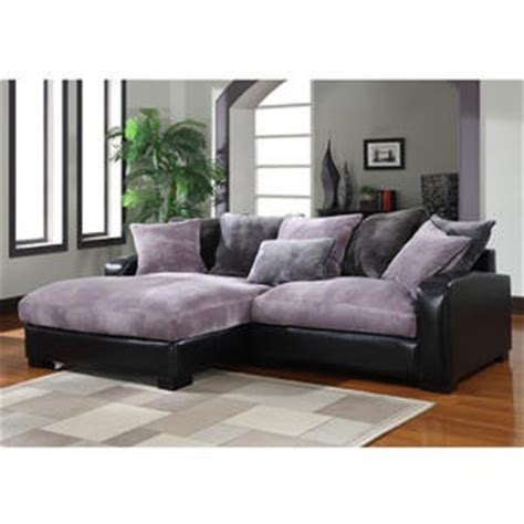 purple sectional sofa chaise purple and gray plush chaise sectional interior design