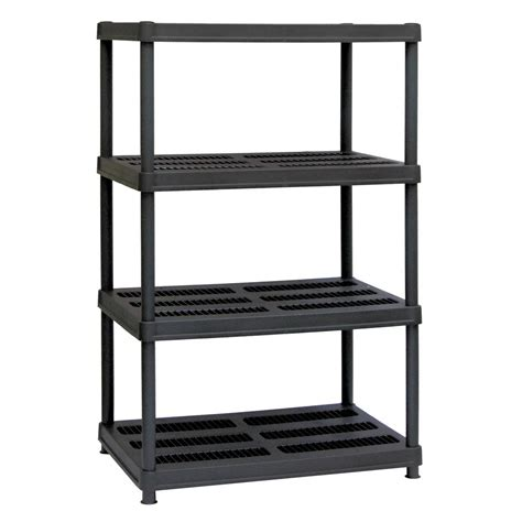 sandusky 56 in h x 36 in w x 24 in d 4 shelf black