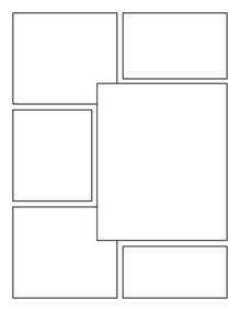 Graphic Novel Template by Blank Comic Book Panels Grid Comic Books