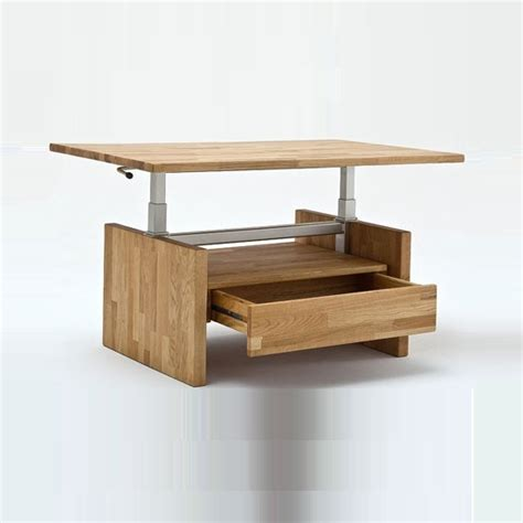 Beech Coffee Table With Drawers Titus Coffee Table In Beech With Lift Function And 1