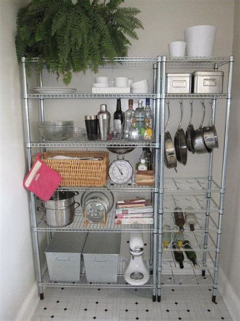 studio apartment kitchen storage organize pinterest open shelving bakers rack and small