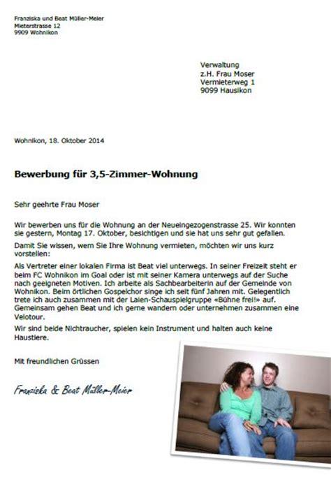 Wohnungsbewerbung Brief Bewerbungsbrief F 195 188 R Wohnung