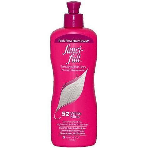 temporary hair dye product fanci full temporary hair color 52 white minx 9 fl oz