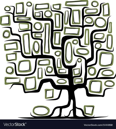Family Tree Concept With Empty Frames Royalty Free Vector Family Tree Concept Stock Vector