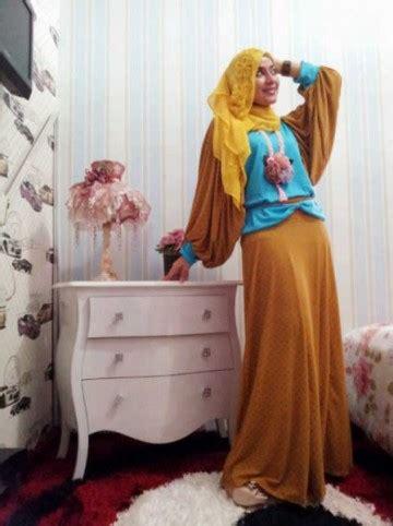 Grosir Polka Biru Clmciez angle pitie polka kuning biru baju muslim gamis modern