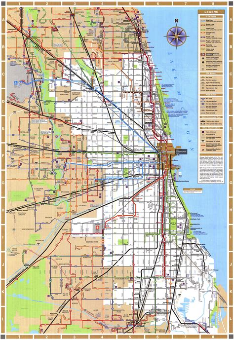chicago railroad map chicago map chicago illinois mappery
