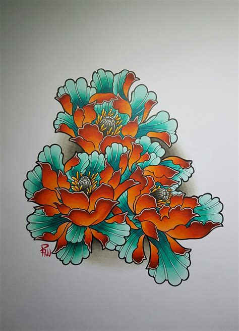 japanese peony tattoo designs pin by amsterdam on drawings