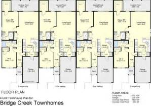4 plex townhouse floor plans 4 plex apartment floor plans