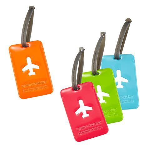 Luggage Tag luggage tags by happy flight the container store