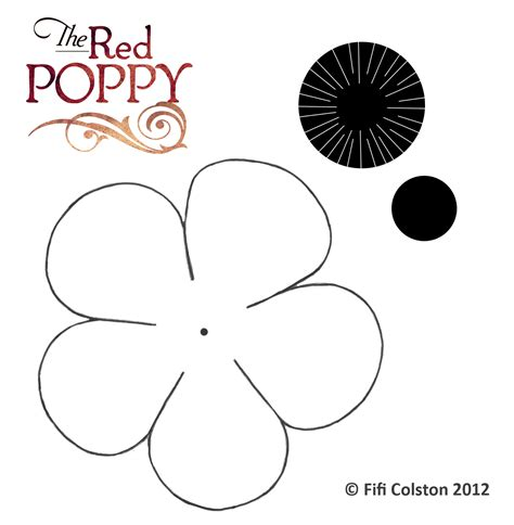 printable poppy template poppy templates images