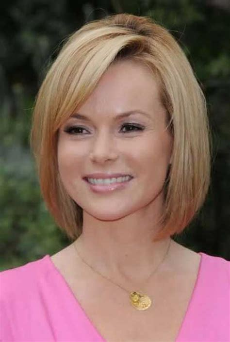 asymmetric fine hair bob hairstyle over 40 for round face for 2015 20 short hair for over 40 short hairstyles 2017 2018