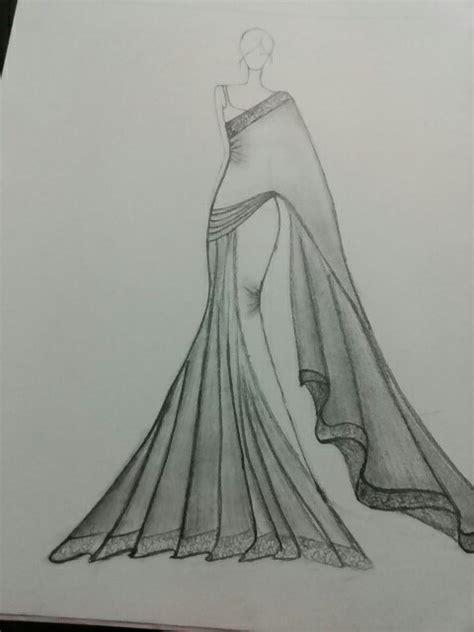 fashion illustration in saree saree illustration sketch fashion illustration