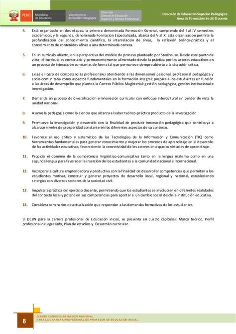 Diseño Curricular Nacional Concepto Dise 241 O Curricular Basico Nacional De Inicial 2010 Peru