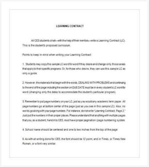 100 behavioral contract template sle homework