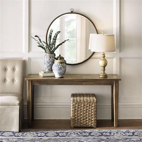 home decorators console table home decorators collection parquetry grey console