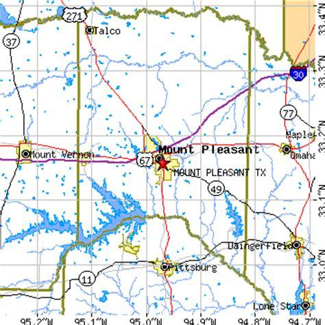 mount pleasant texas map mount pleasant texas tx population data races housing economy