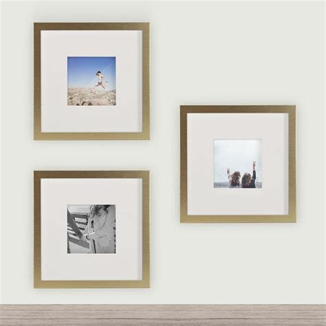 Frame Foto 3 Susun 4x4 or 8x8 brushed metal square instagram photo frame tiny mighty frames