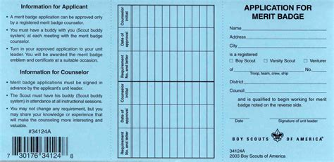 bsa card template merit badge blue card change scoutmastercg