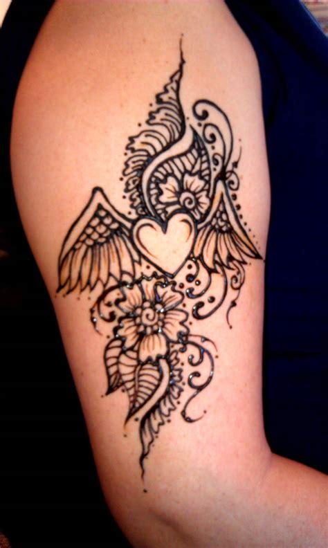 heartbeat henna tattoo henna winged heart henna designs pinterest