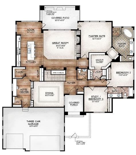 floor master house plans 17 best ideas about open floor plans on open