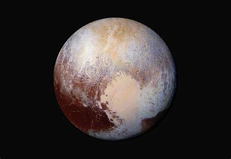 The View From Pluto by Pluto Dazzles In False Color Inside Rms
