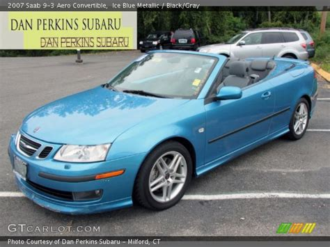 saab convertible blue ice blue metallic 2007 saab 9 3 aero convertible black