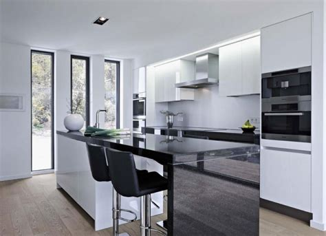 kitchen black and white kitchen island table industrial style modern black vinyl bar stools combined black and white
