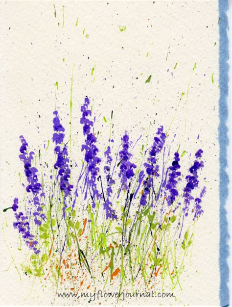 lavender paint how to make splattered paint flower cards my flower journal