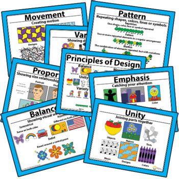 Elements Of Art Principles Of Design Artwork Checklist Poster Printable Bundle Chs Posters Templates