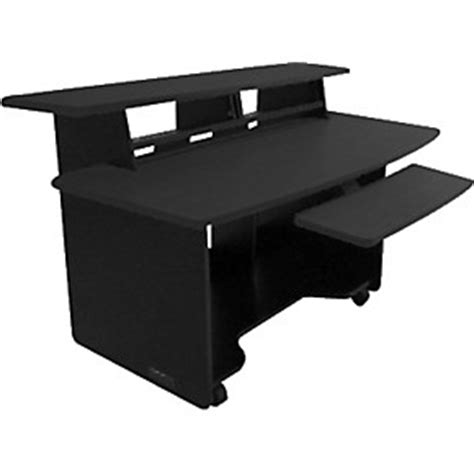 studio desk guitar center omnirax presto 4 studio desk black guitar center