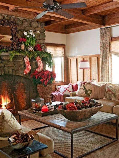 christmas home interiors cozy rustic christmas loving room pictures photos and