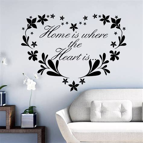 home wall decor stickers flower home removable quote wall sticker mural decor
