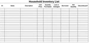 inventory templates household inventory list template microsoft office templates