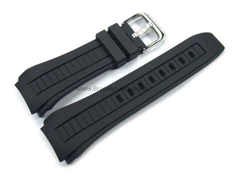 Bracelet de montre Lotus pour 15743, caoutchouc, noir