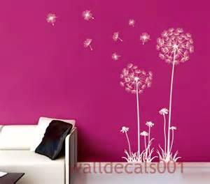 Dandelion Wall Art Stickers Dandelions Wall Decals Wall Stickersdecalstickerdecorart