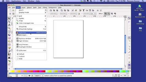 tutorial inkscape mac how to use and create color palettes swatches in