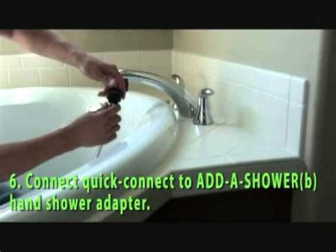 adding a shower head to a bathtub how to add a shower to your roman tub faucet youtube