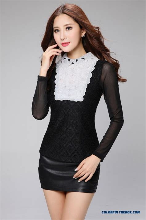 cheap haute couture spring sexy lace blouses embroidered