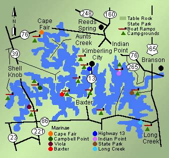 table rock lake house rentals with boat dock table rock marinas map tablerock lake lake life is the