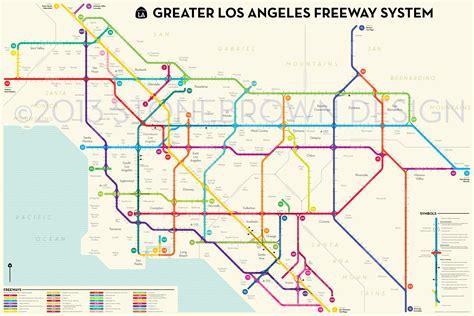 map los angeles los angeles freeways
