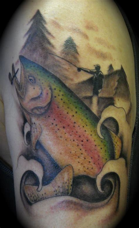fly tattoos trout fly fishing by lila rees tattoos