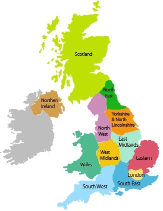 Find In The Uk Mapping Data Onto Uk S 12 Regions