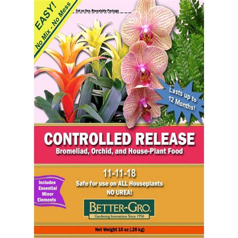 bett gro better gro 10 oz controlled release bromeliad orchid and