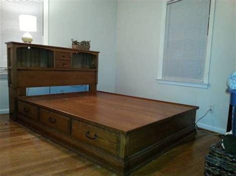 queen bookcase headboard oak woodworking projects plans