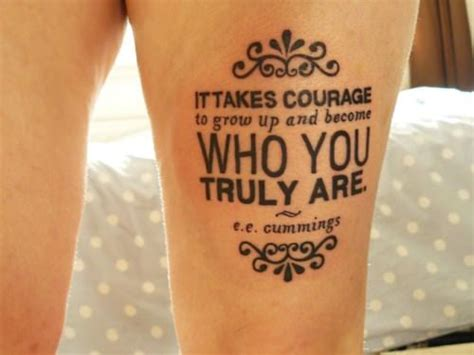 ee cummings tattoo literary quotes tattoos for book and bookworms