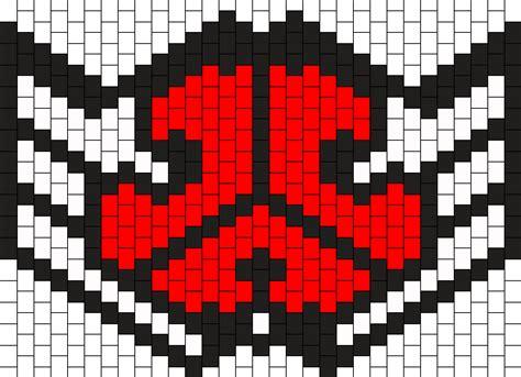 black and white kandi mask pattern defqon 1 mask bead pattern peyote bead patterns misc