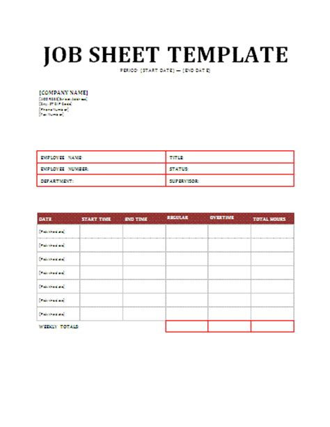 job sheet template new calendar template site
