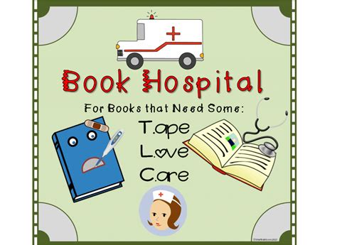 the hospital books diy book hospital